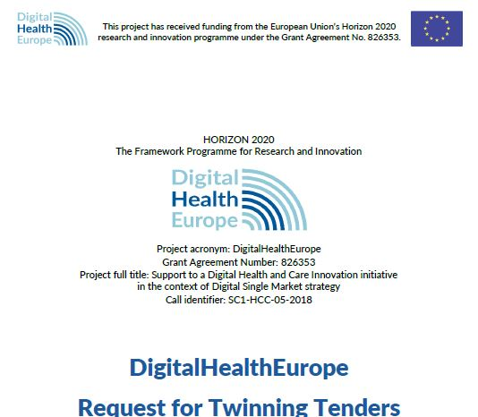 Nuova call for twinning lanciata dal progetto  DigitalHealthEurope