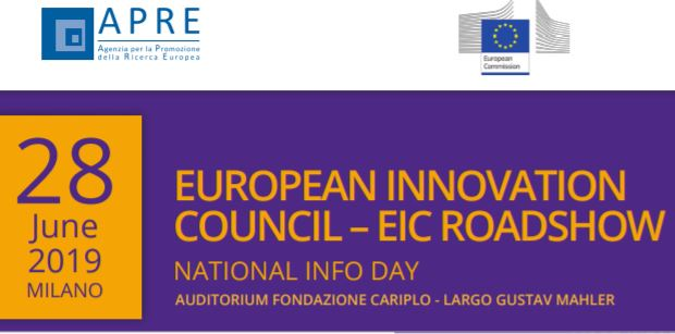 European Innovation Council Roashow – Infoday a Milano, 28 giugno 2019
