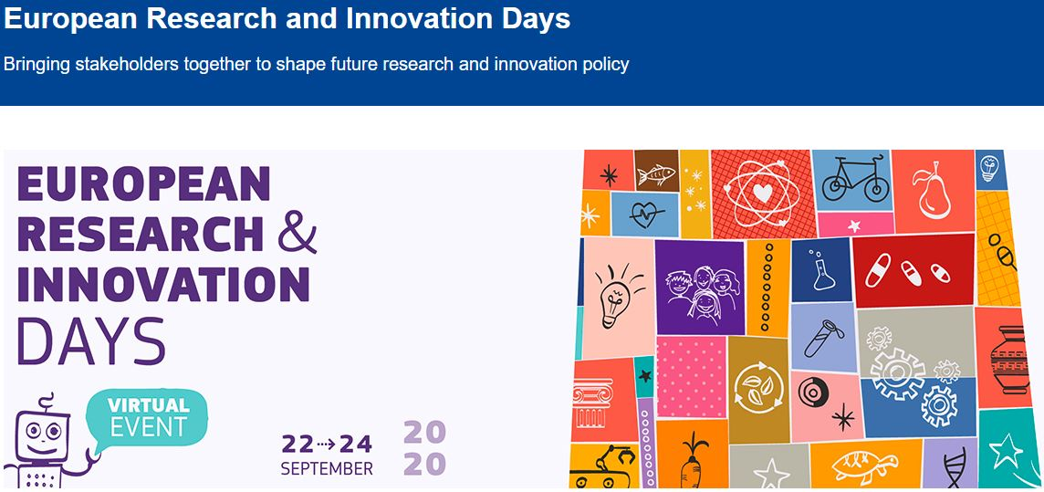 European Research and Innovation Days: 22-24 settembre 2020