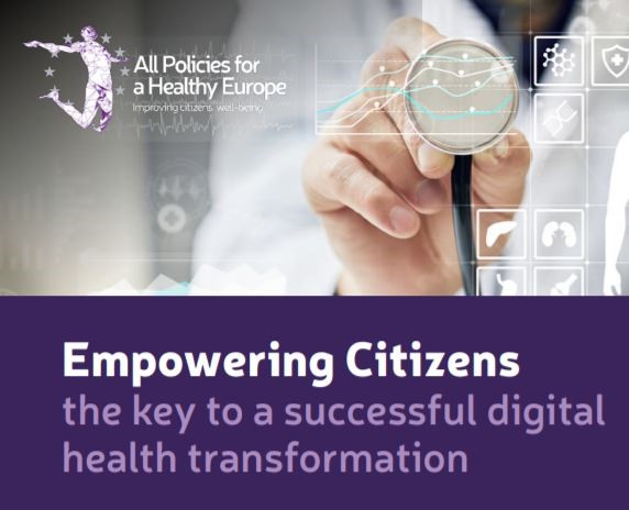 "Pubblicato il documento politico ""Empowering Citizens the key to a successful digital health transformation"""