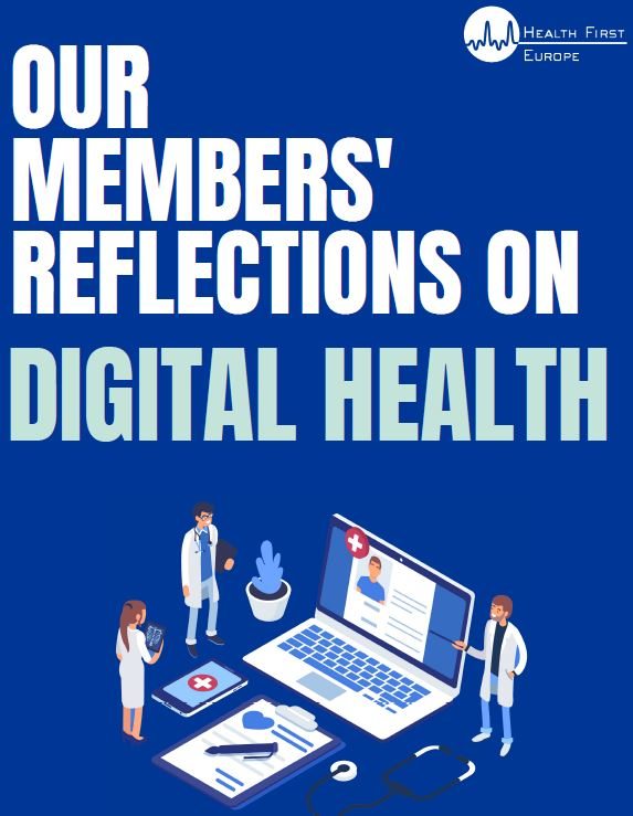 "Pubblicazione del paper ""Our Members' reflection on digital health"" di Health First Europe"