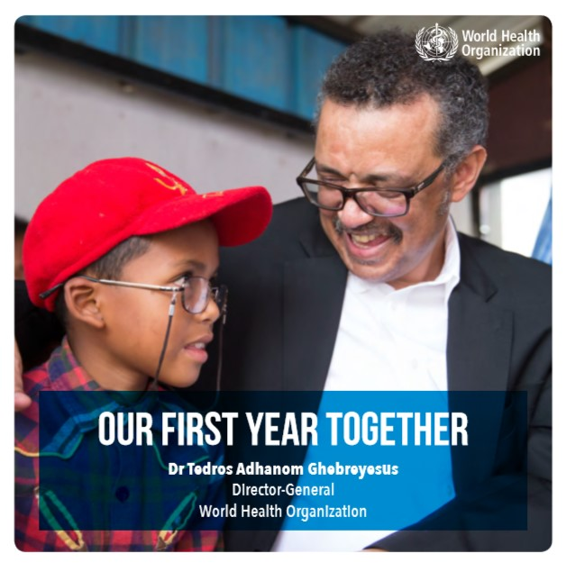 "OMS, ""Our first year together"": il primo anno del dott. Tedros Adhanom Ghebreyesus come Direttore Generale"